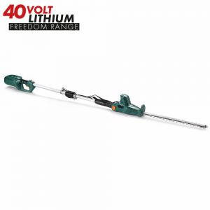 40v Cordless Telescopic Long Reach Hedge Trimmer