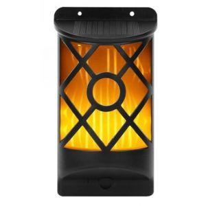 72 LED Solar Flicker Flame Wall Light