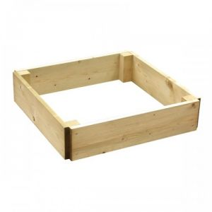Square Wooden Raised Planting Bed